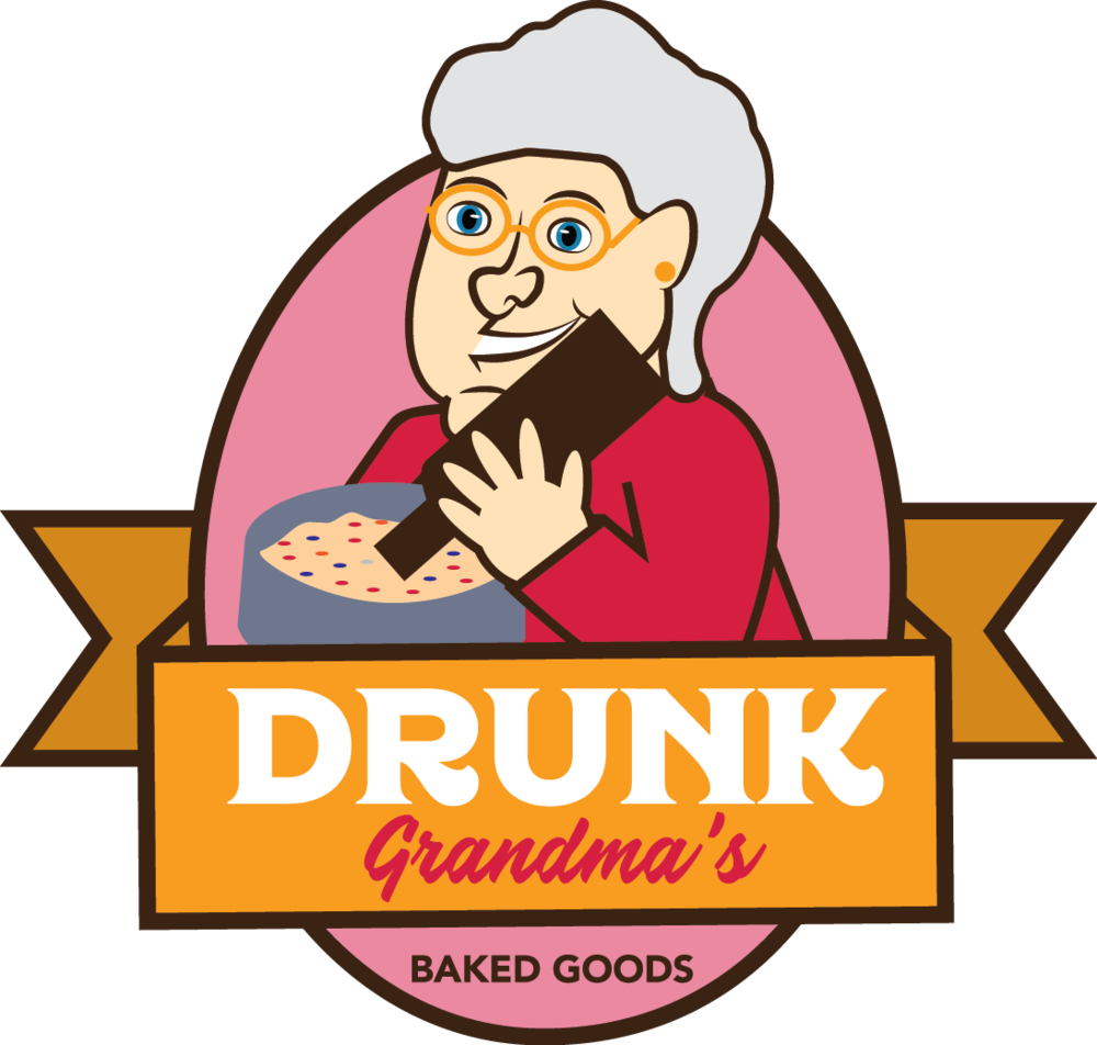 vector transparent download Drunk grandma s phillys. Baked goods clipart table top sale