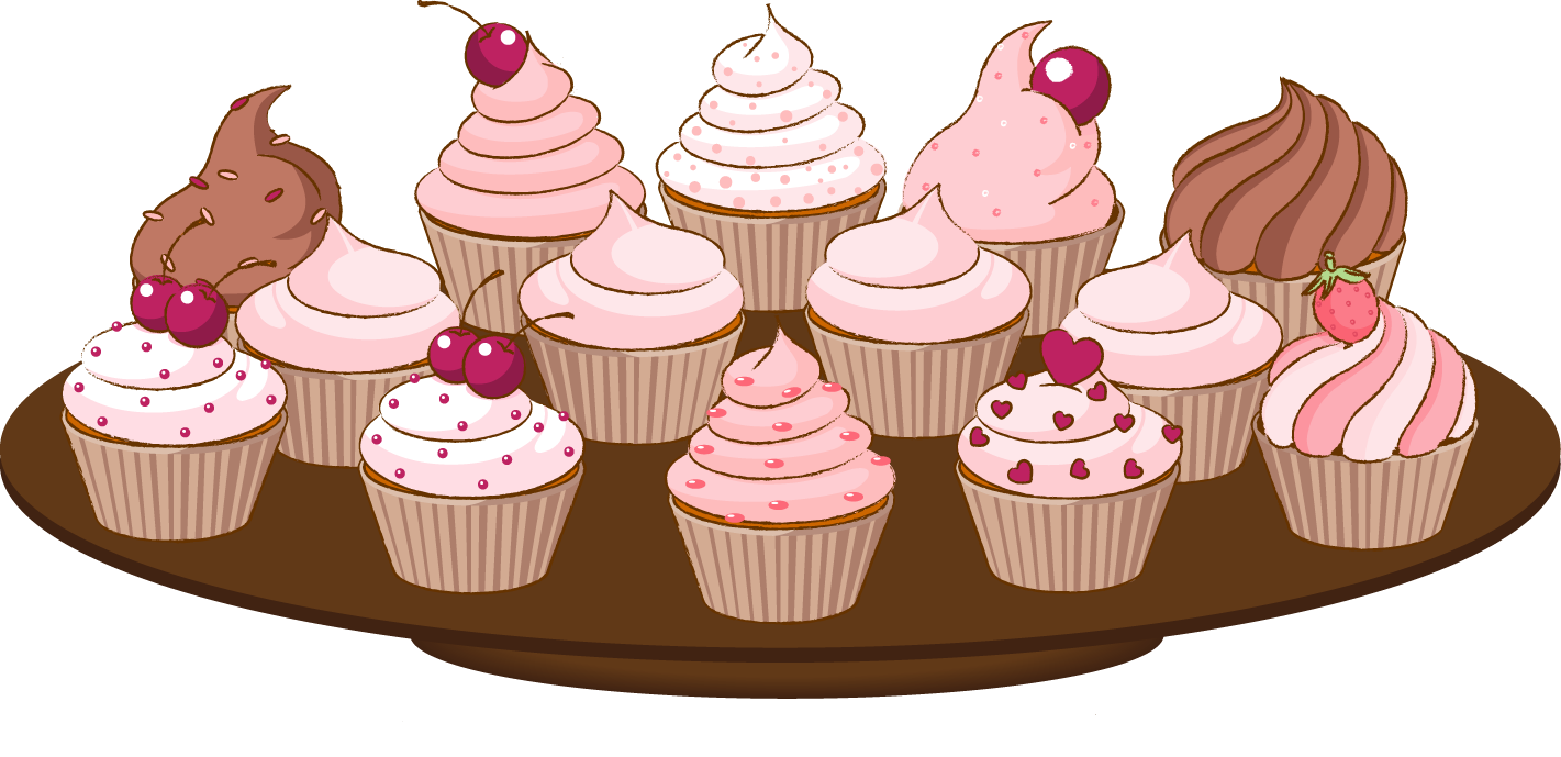 jpg free library Bake sale clip art of a cupcake with sprinkles cake clipart