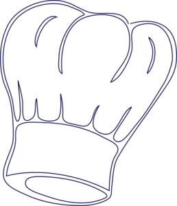 jpg transparent library Outlined chef hat clip. Hats clipart baking