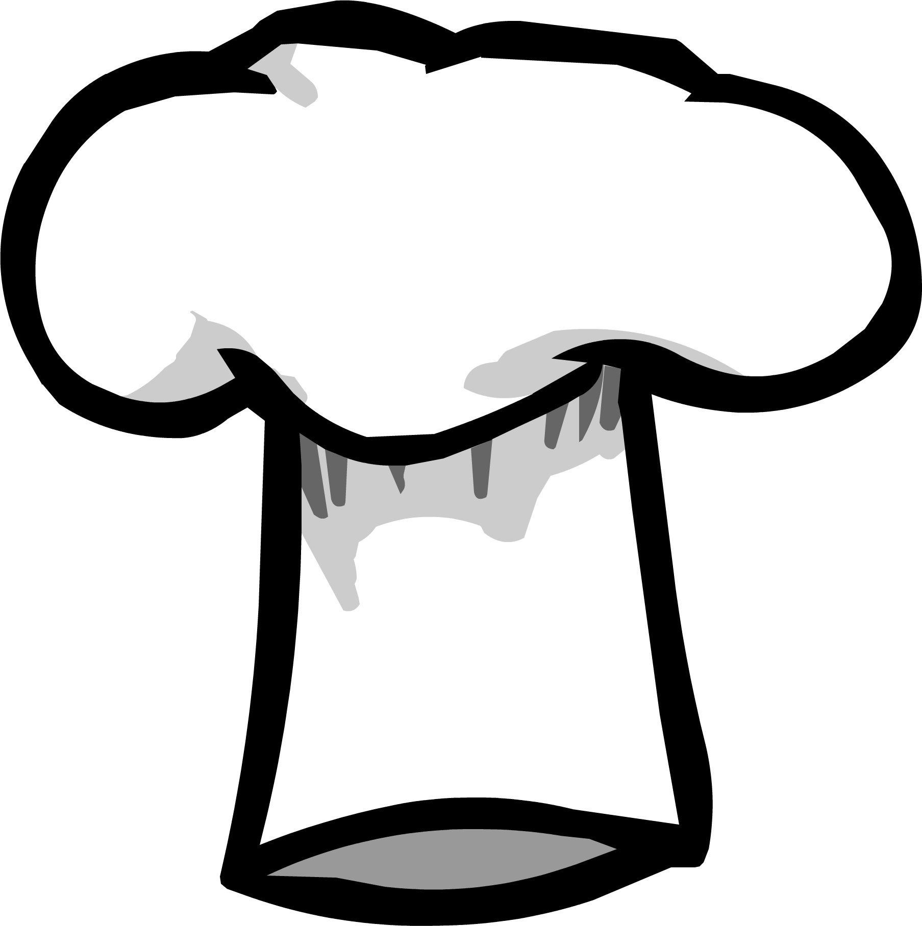 banner black and white Clipart chef hat. Picture of club penguin.