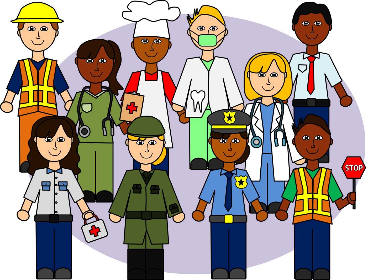 clip transparent stock Community Helpers Clip Art