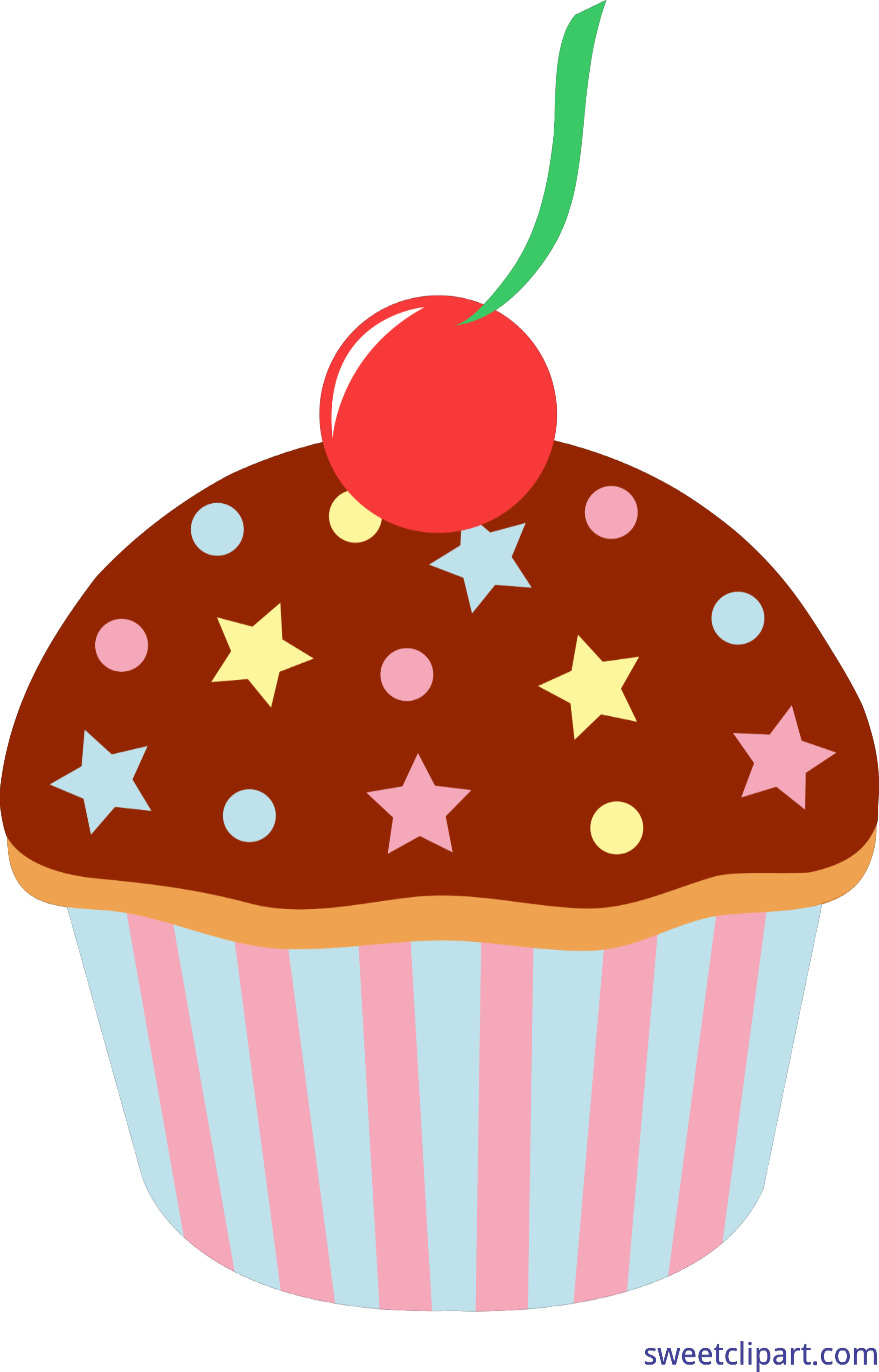 clip art black and white download Chocolate Cupcake With Sprinkles Clip Art