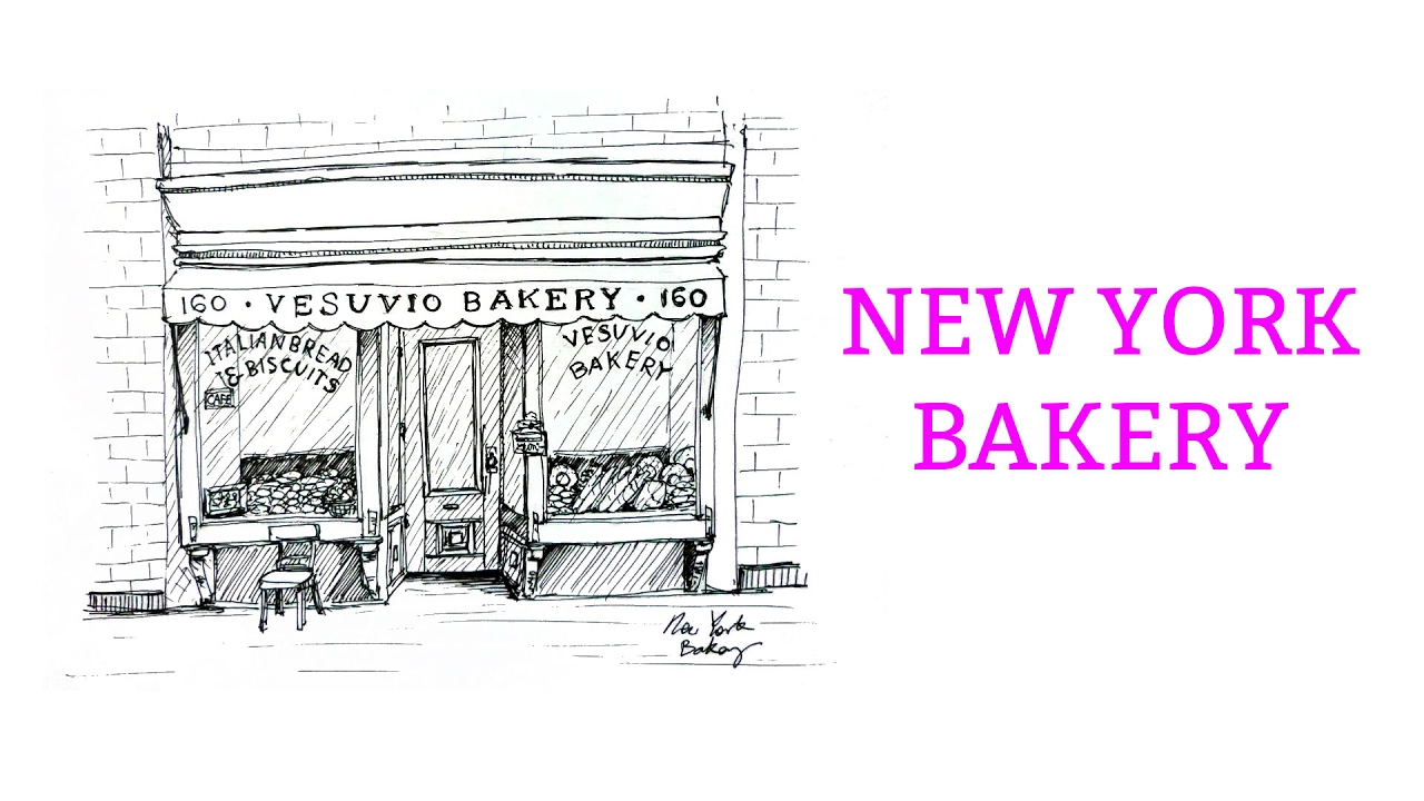 clip royalty free download Bakery drawing.  how to draw