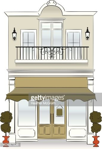 image Bakery clipart exterior transparent. Drawing store storefront