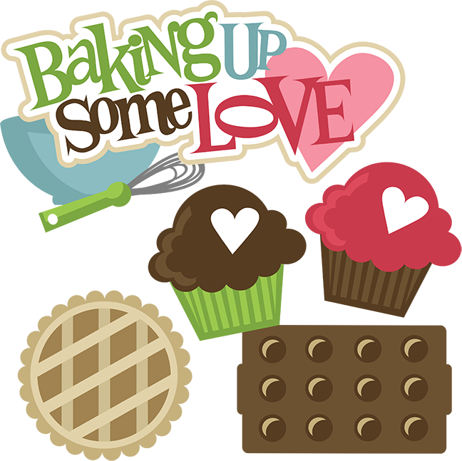 clip art black and white download Baking clipart. Up some love svg.