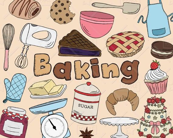 clip art transparent download Vector pack kitchen pastry. Baking clipart
