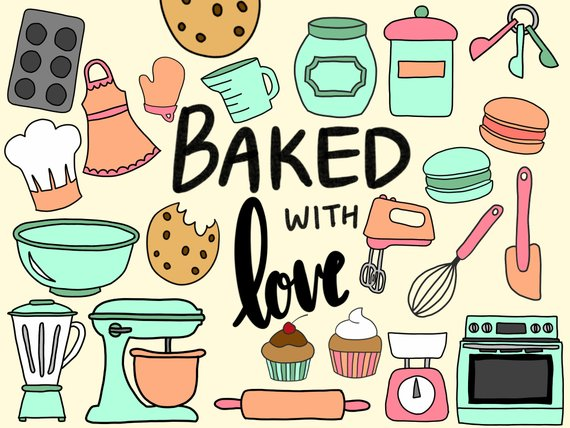 banner library library Baked goods clipart cute. Baking cooking clip art.