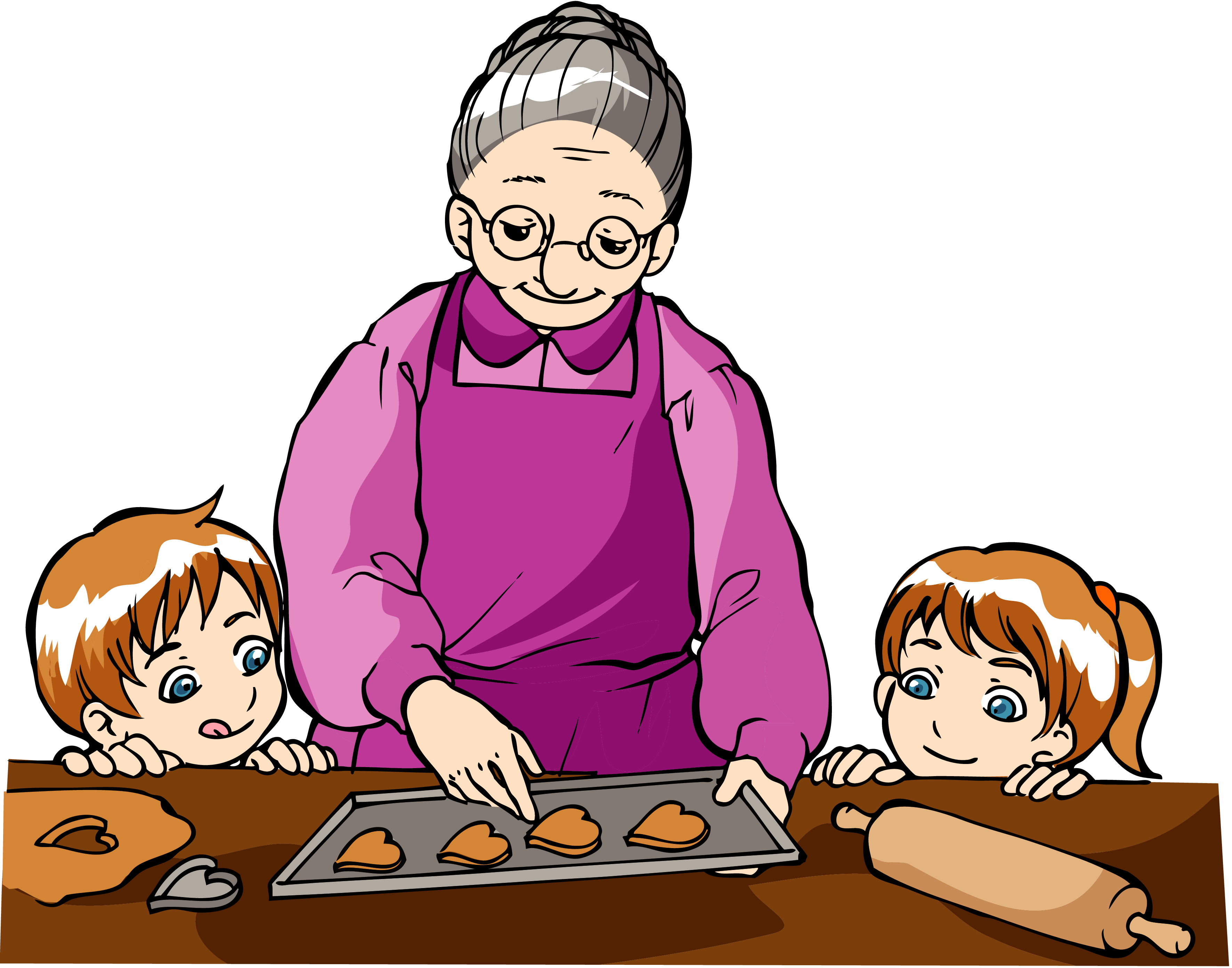 banner royalty free download Grandmother free on dumielauxepices. Baking clipart