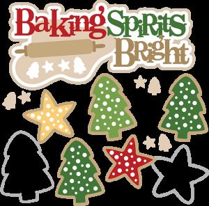 clip art library library Baking clipart baking supply. Spirits bright svg christmas.