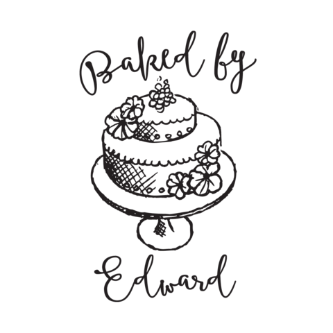 image black and white stock Baking drawing baked goods. Stamptastic uk by stamp