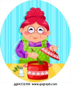 png royalty free download S cooking clipart . Baking drawing grandma