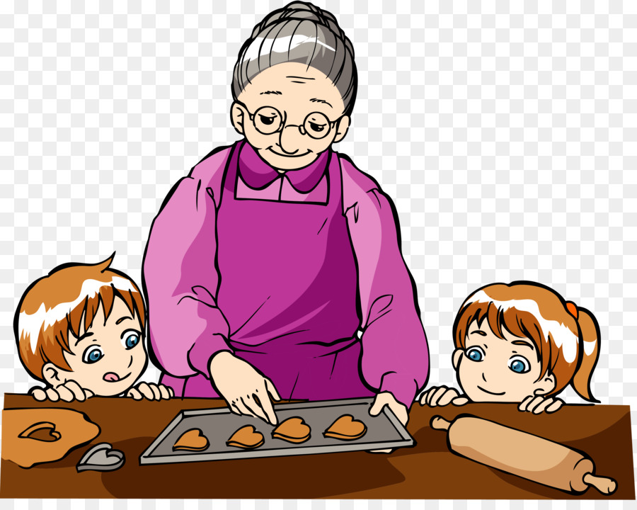 svg download Png free transparent . Baking drawing grandma