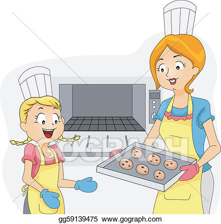 png Vector art baker clipart. Baking drawing kid