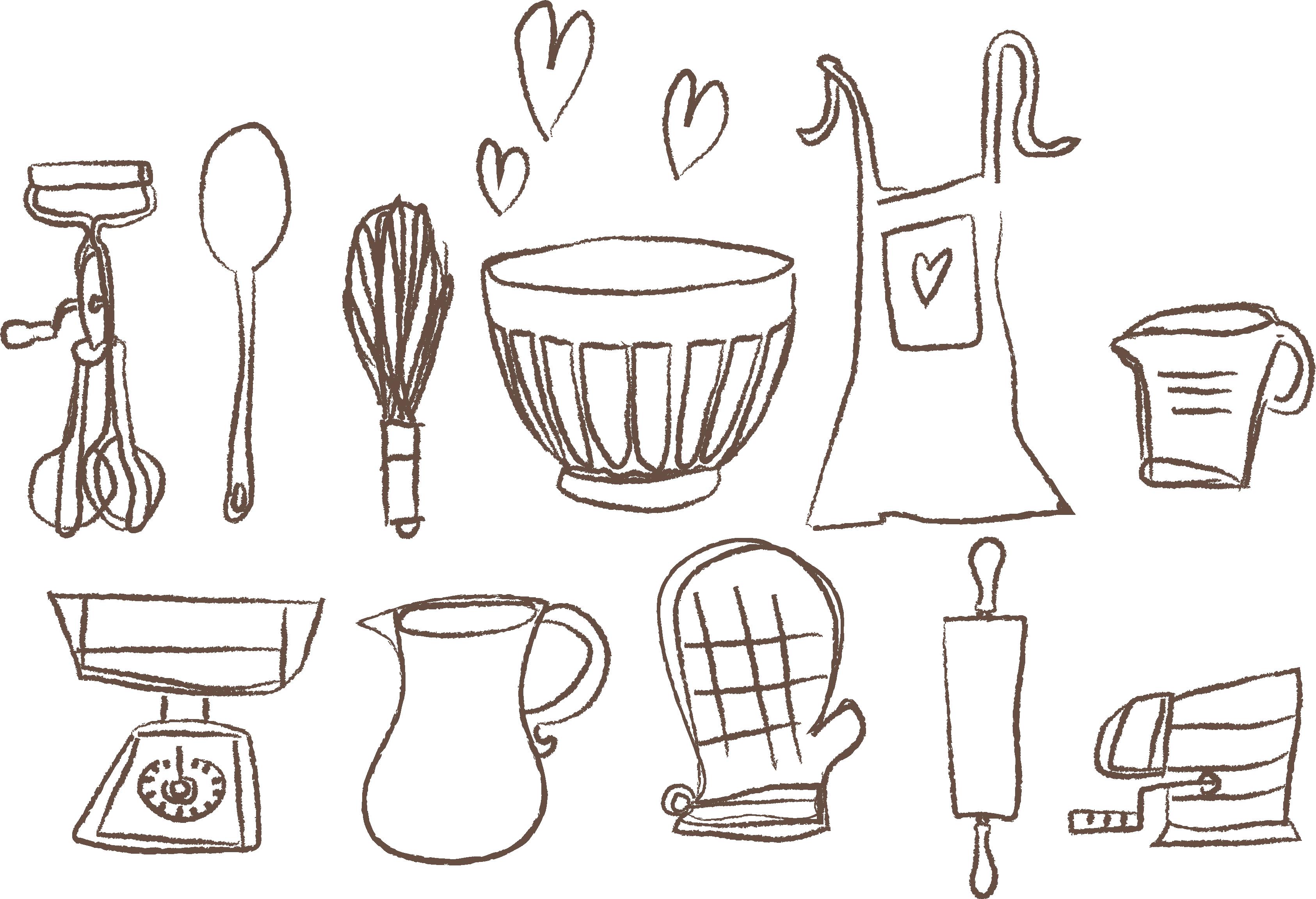 png freeuse Sweet sydneys monella designs. Baking drawing kitchen