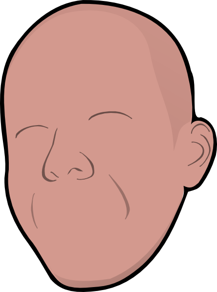 image royalty free Without face clip art. Bald clipart