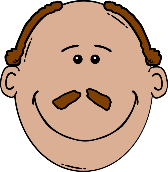 image royalty free Man face with a. Bald clipart