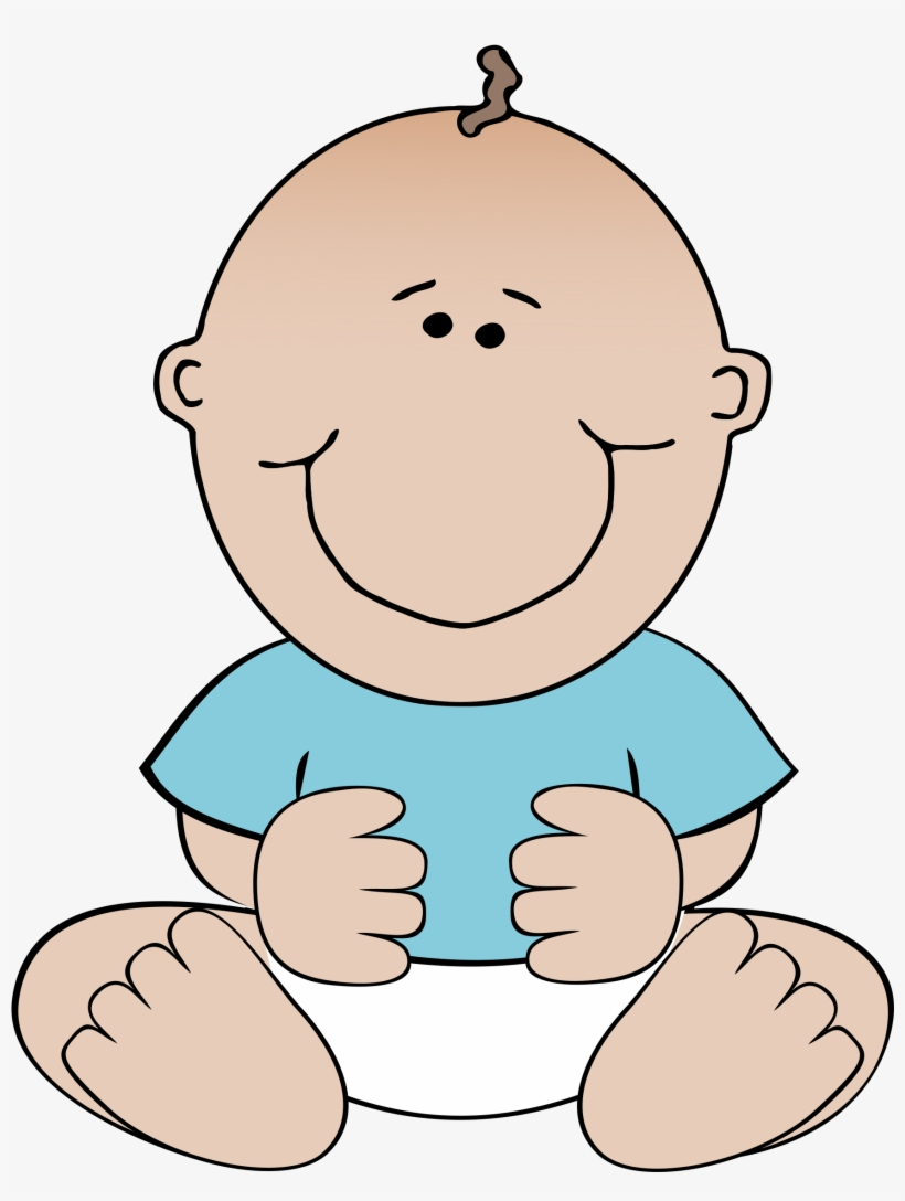 clip art black and white Bald clipart bald baby. Graphic library boy