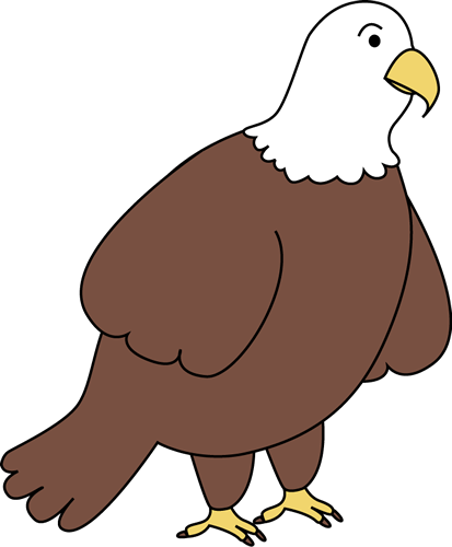 royalty free Cute Bald Eagle Clipart