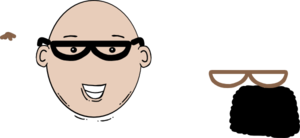 clipart royalty free library Bald clipart bald head. Man face cartoon with.