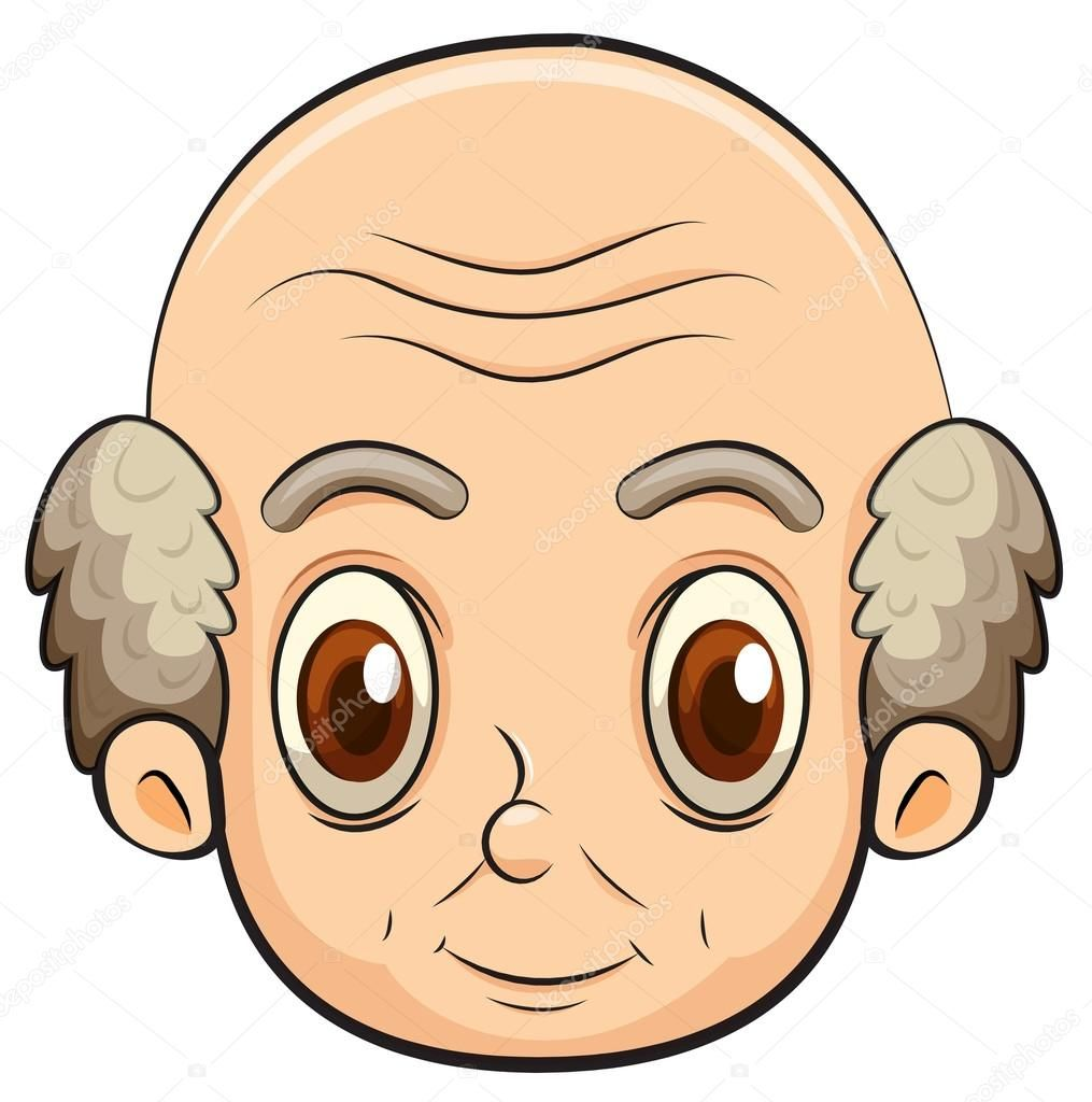 image free Image result for old. Bald clipart bald head.