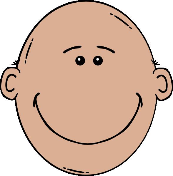 svg library Cartoon faces . Bald clipart bald head.