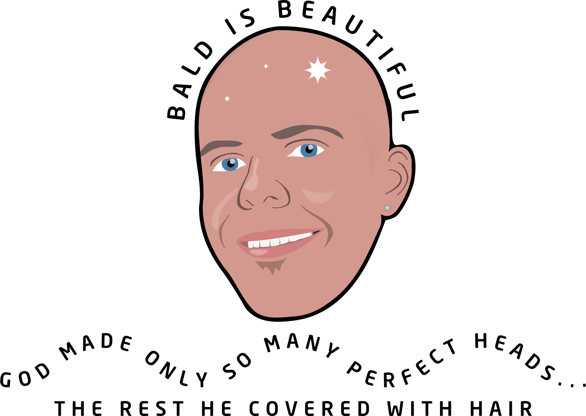 jpg free library Bald clipart bald head. Is beautiful no background.