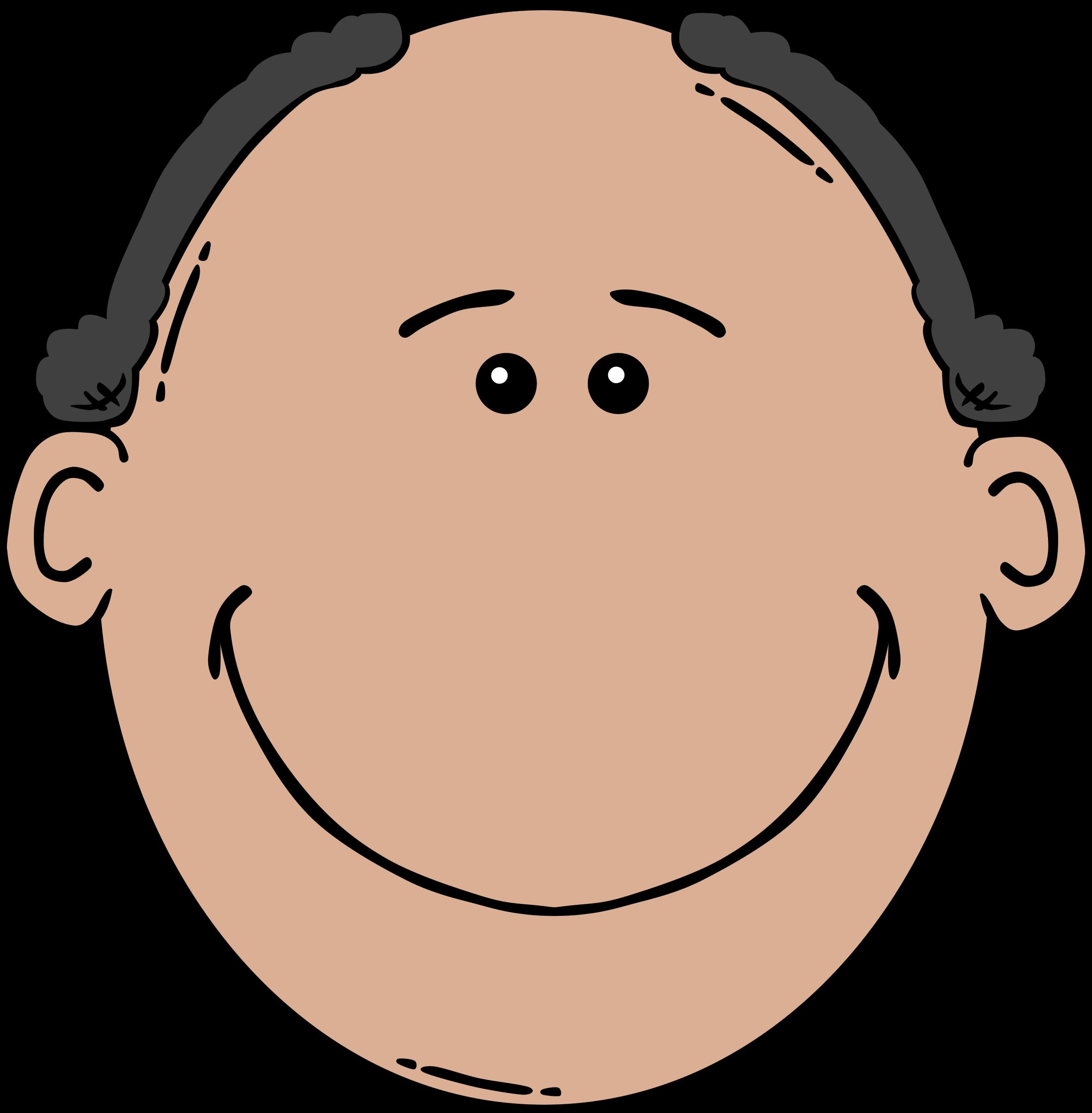 jpg free library Man face cartoon big. Chin clipart clip art.