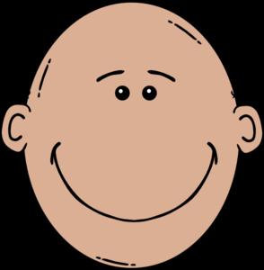 clip black and white stock Bald clipart. Happy man clip art