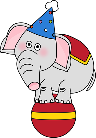 svg free stock Elephant on a clip. Ball transparent circus