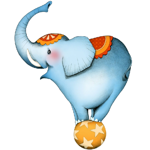 graphic royalty free Funny elephant balancing on. Ball clipart circus.