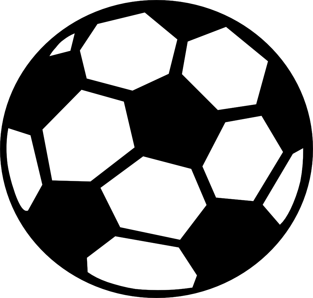 svg freeuse Black and white sport clipart. Soccer ball clip art