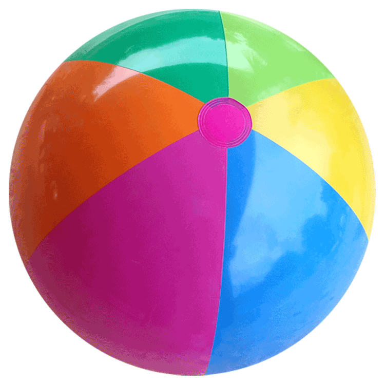 clipart library Beach Ball Purple Orange Blue transparent PNG