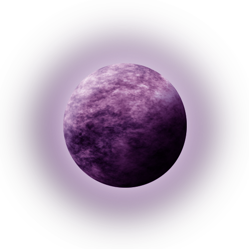 banner freeuse Ball transparent purple. Stock moon with glow
