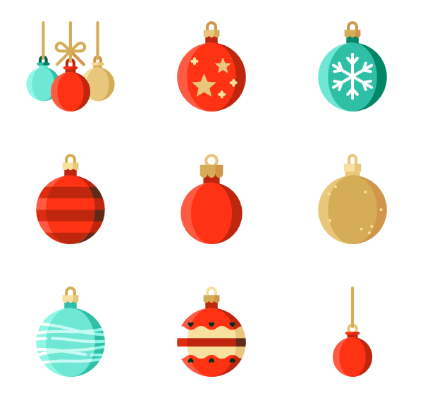 png black and white Christmas ball Icons