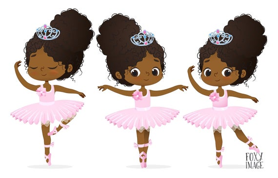 image free stock Ballerina clipart. Little ballet characters african