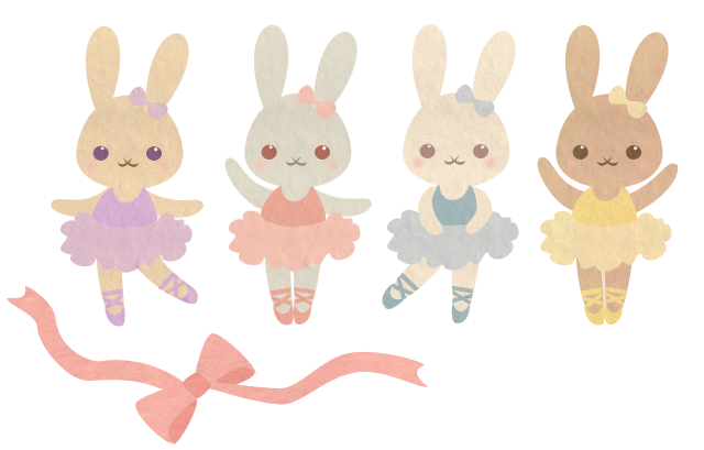 clipart library Pencil and in color. Ballet clipart bunny.