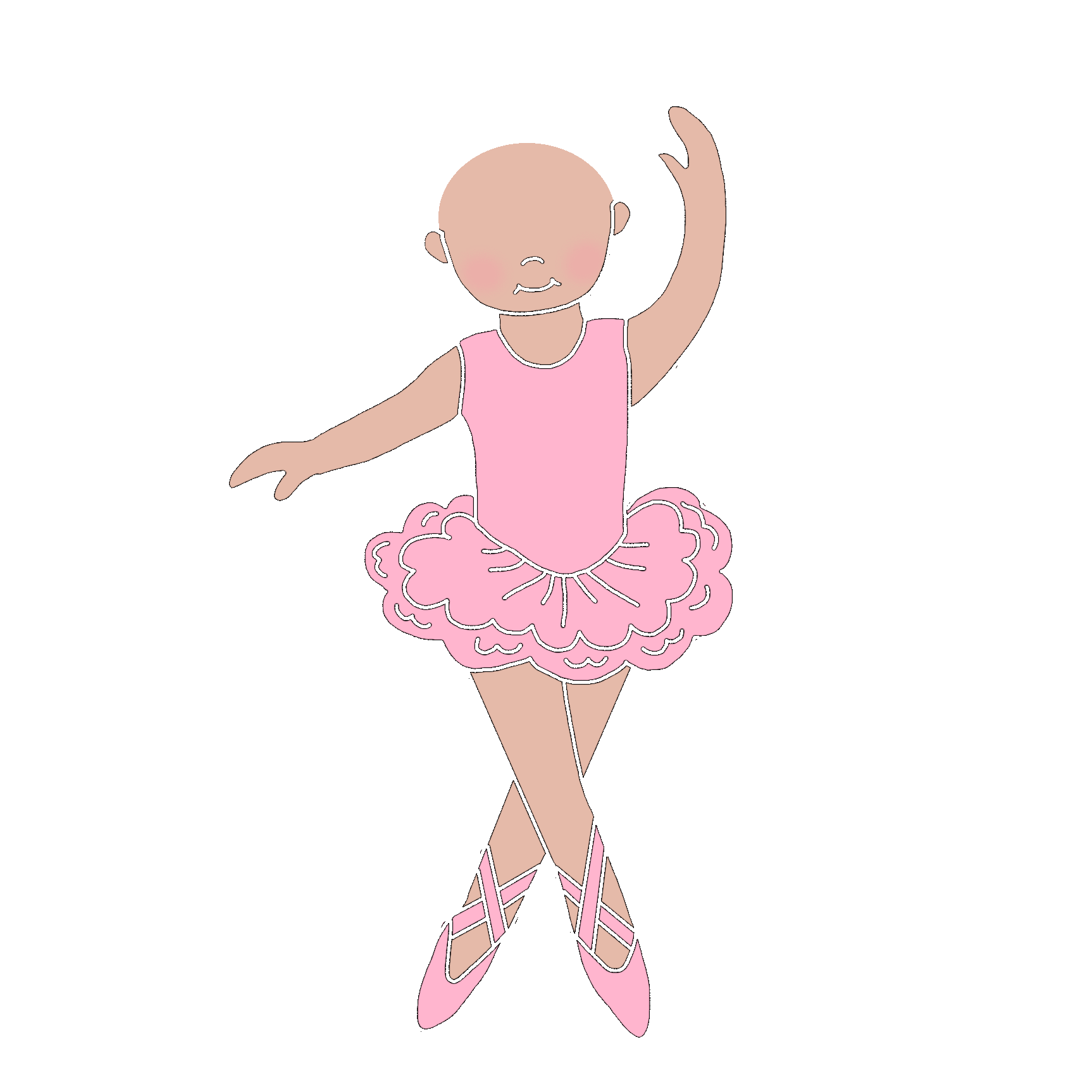 banner freeuse stock Ballerina and thank you. Ballet clipart childrens dance.