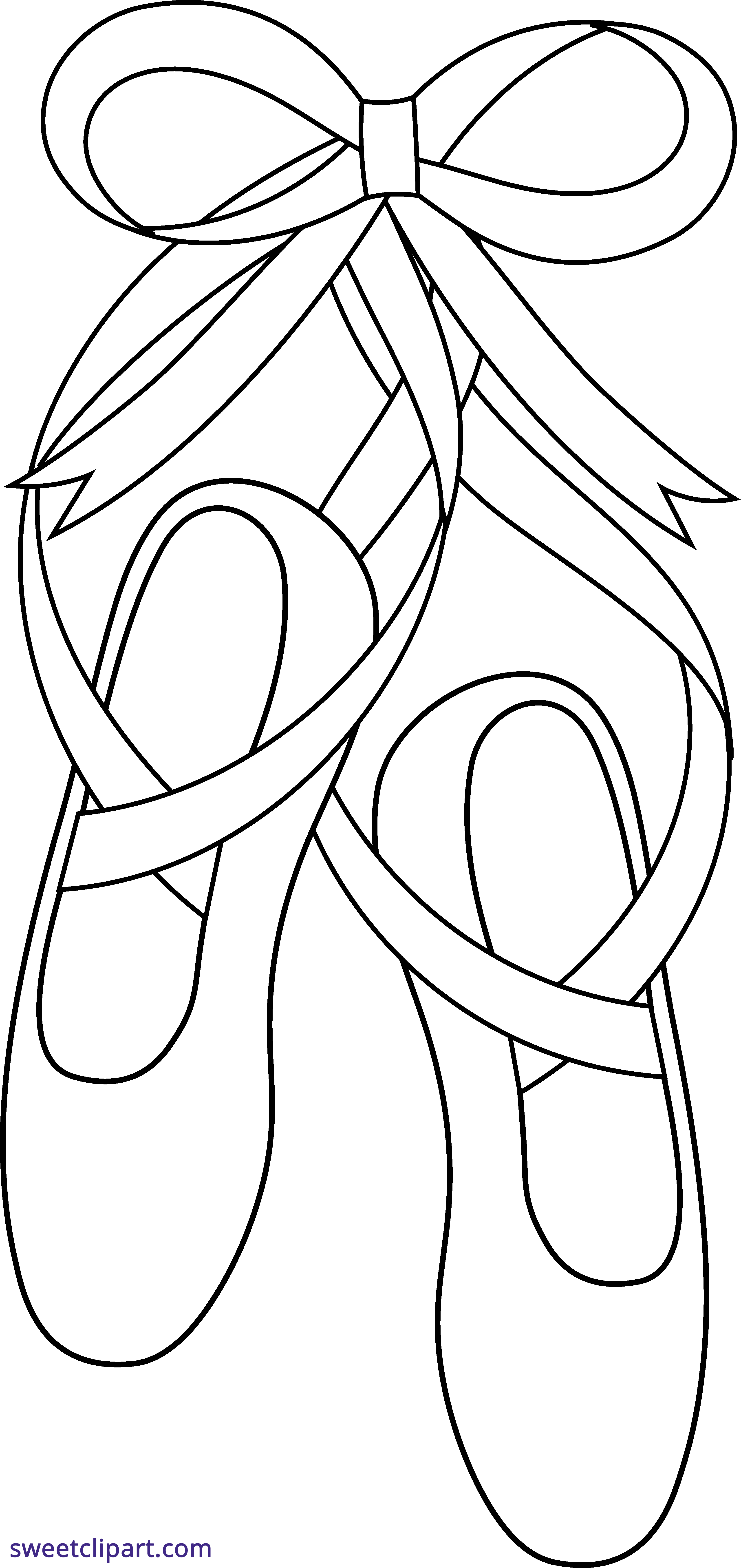 banner black and white stock Ballet Shoes Outline Clipart