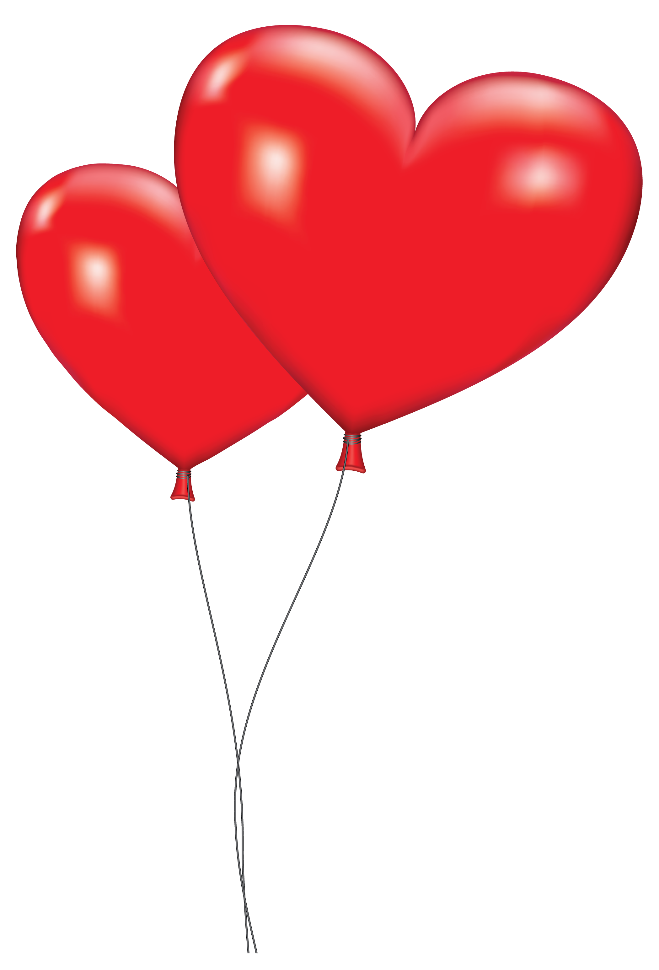 image freeuse library Orange Balloon Clipart Large Red Heart Balloons Png Clipart Picture