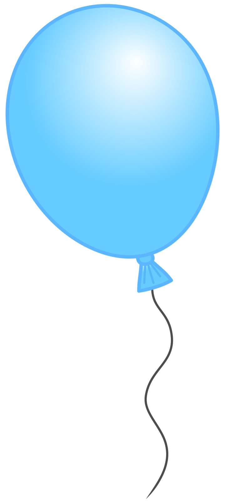 image transparent download Blue Single Balloon Clipart