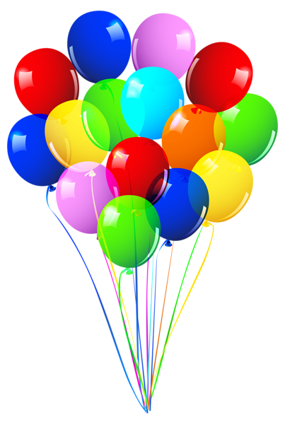 clip art transparent download Bunch of Balloons PNG Image