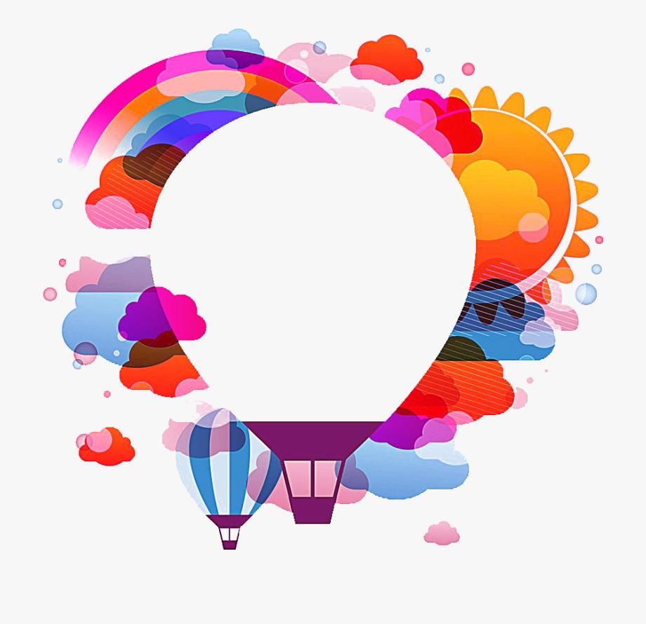 graphic freeuse Hot air balloon flight. Ballon vector.