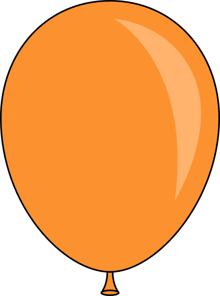 png freeuse library Orange Balloon Clip Art at Clker