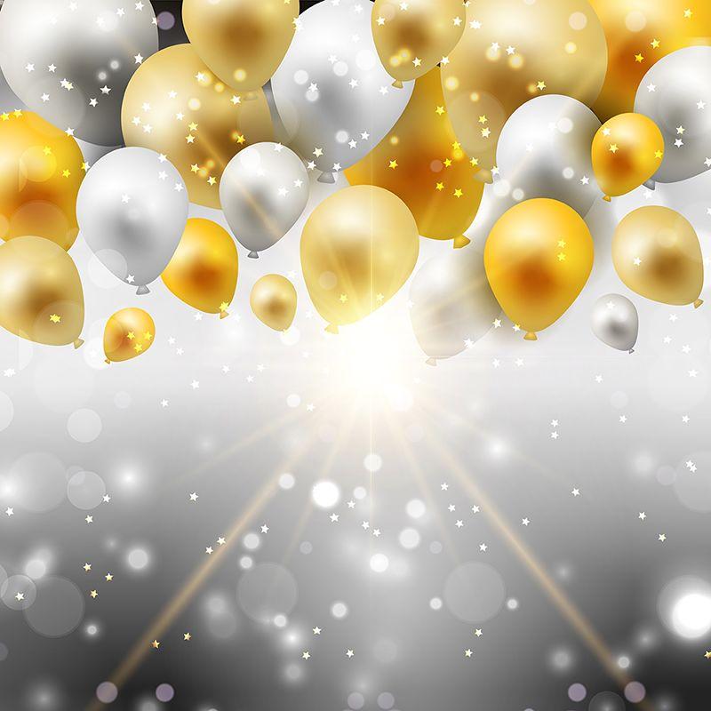 clip download And silver balloons balloon. Pennant vector gold.