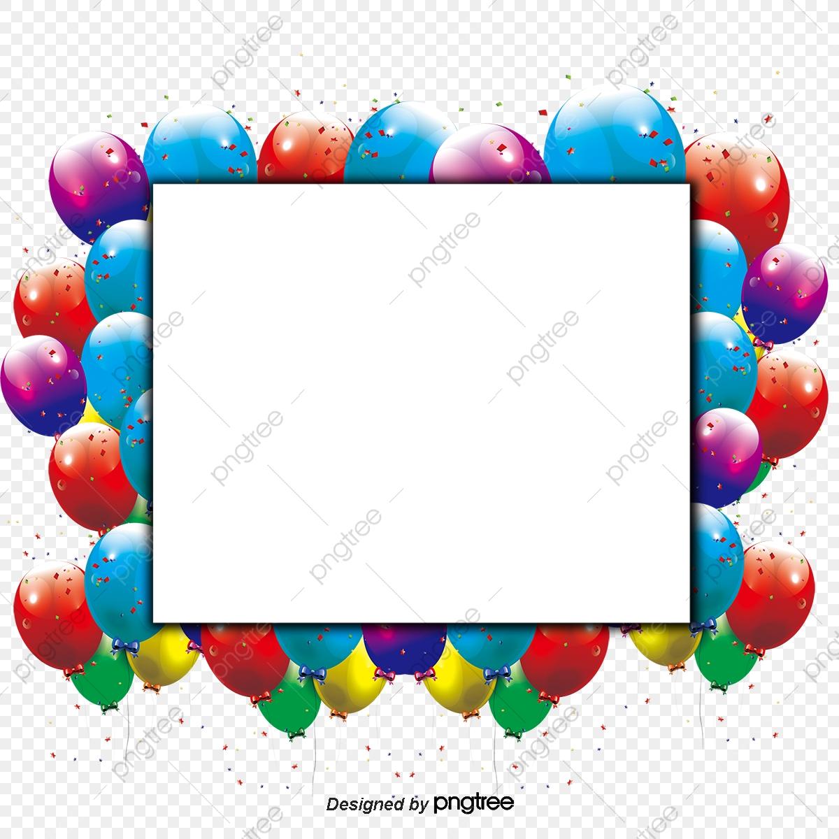 clip art free library Vector balloon border. Colorful balloons message board