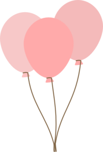 graphic library stock Pink Balloons clip art
