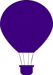 banner Purple Air Balloon clip art