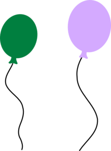 banner library library Green Purple Balloon Pair Clip Art at Clker