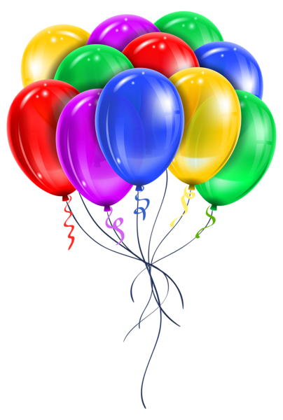 free library Transparent balloon. Bouquet party celebration clipart