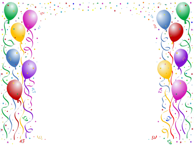 clipart royalty free stock Handpicked cool for birthday. Balloon borders clipart.